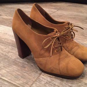 Tory Burch brown suede heels/ booties